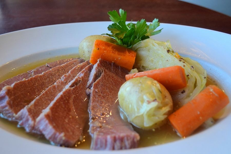 Traditional corned beef is on Prairie Grass Cafe's menu this weekend.