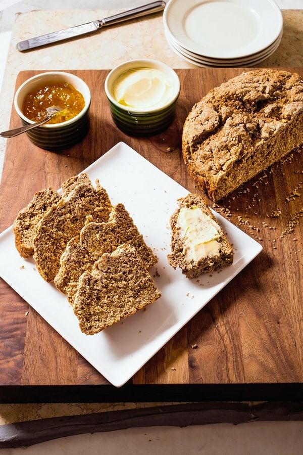 "Irish brown soda bread from the recipe in the cookbook ""All-Time Best Brunch."""