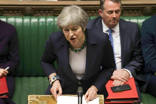 Britain s Prime Minister Theresa May speaks to lawmakers in the House of  Commons 288f3b8017