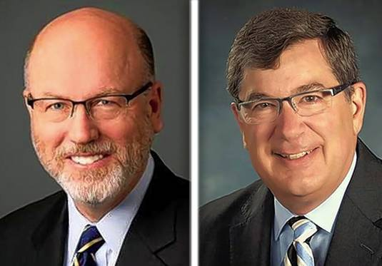 John Prendiville and Phil Suess are candidates for mayor in Wheaton.