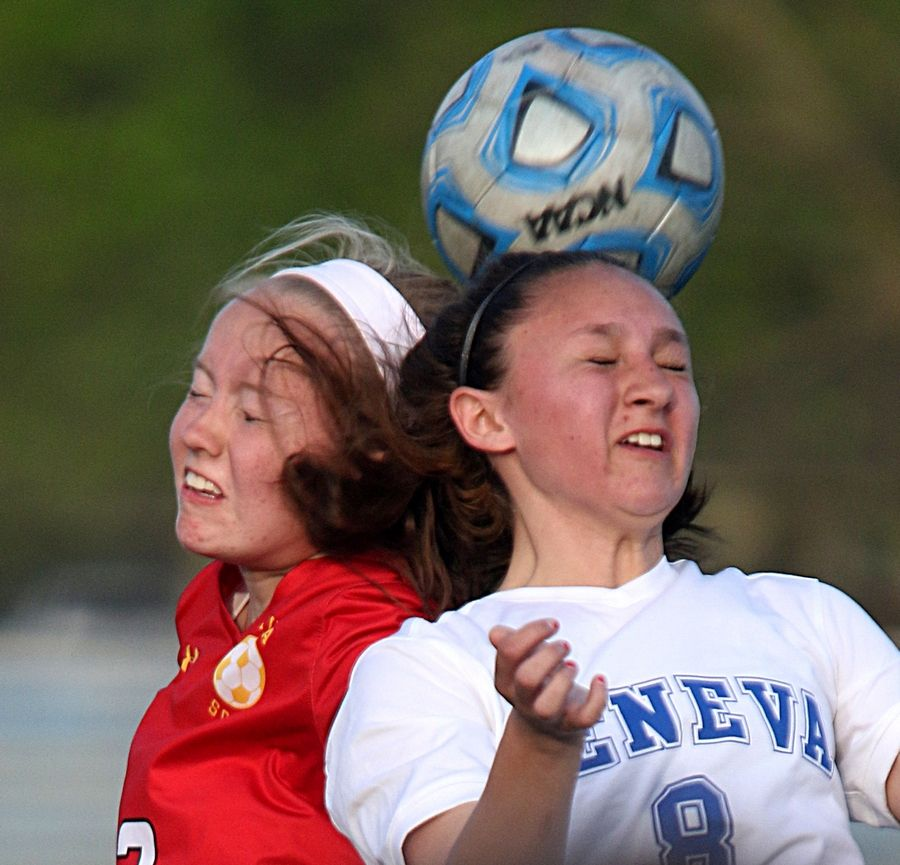 Batavia's Jenna Nichols, left, and Geneva's Jenna Dominguez return to their respective schools after both teams enjoyed winning seasons a year ago -- 14-4 and 12-7, respectively.