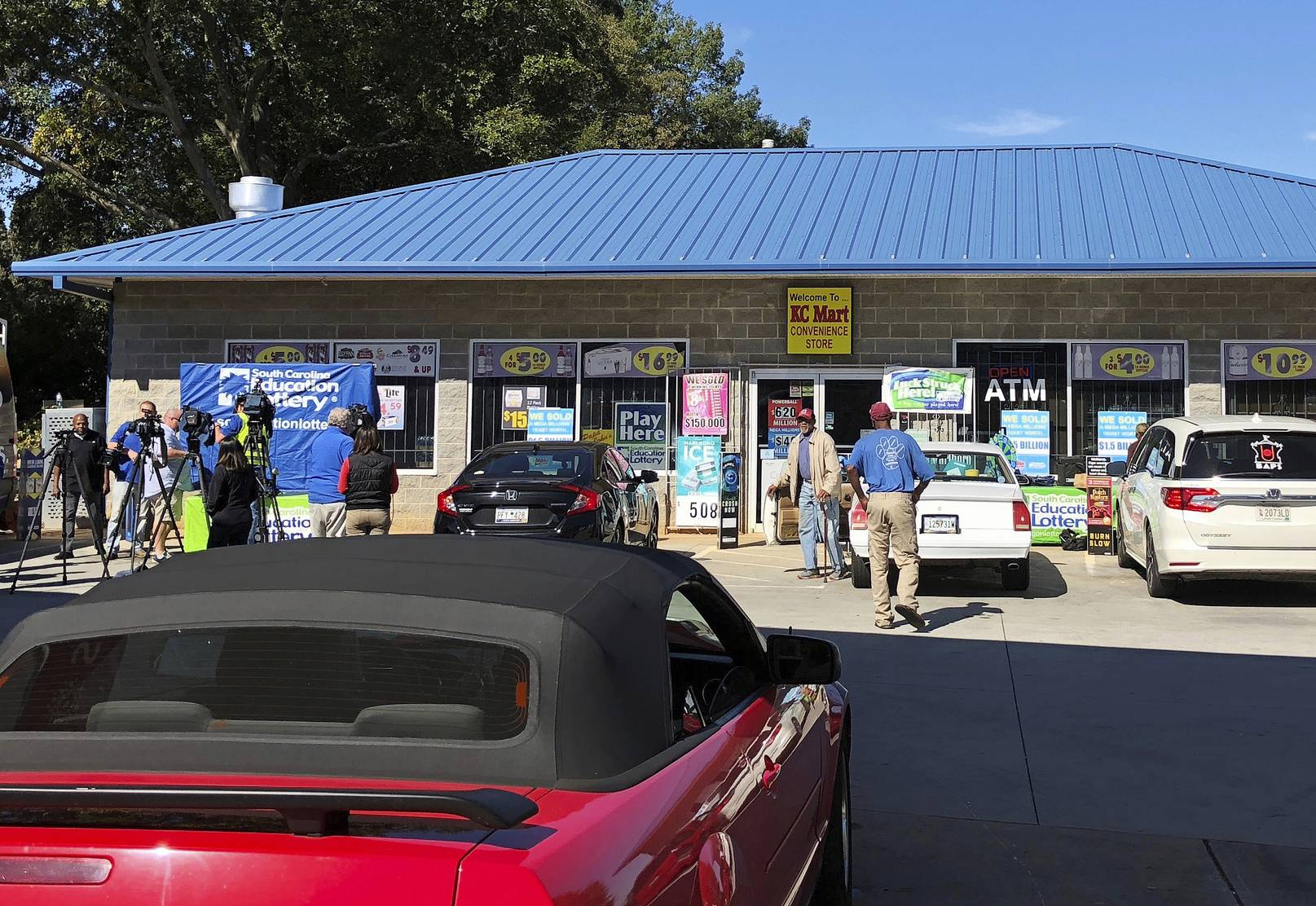 The KC Mart in Simpsonville, S.C., where the winning $1.537 billion Mega Millions lottery ticket was purchased.