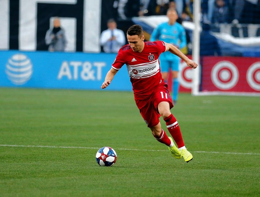 The Chicago Fire and midfielder Przemyslaw Frankowski face Seattle Saturday at SeatGeek Stadium.