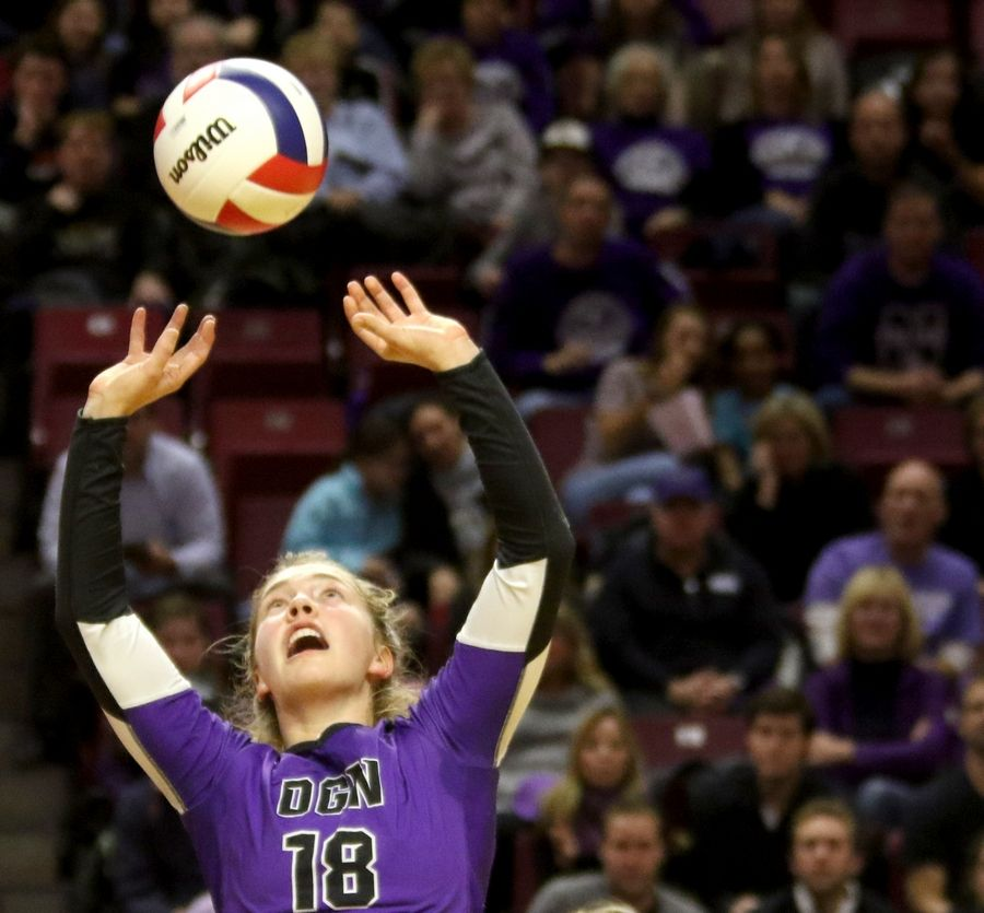 Beth Dunlap played on Downers Grove North's volleyball team, including last year during Class 4A girls state semifinals at Redbird Arena on the campus of Illinois State University.