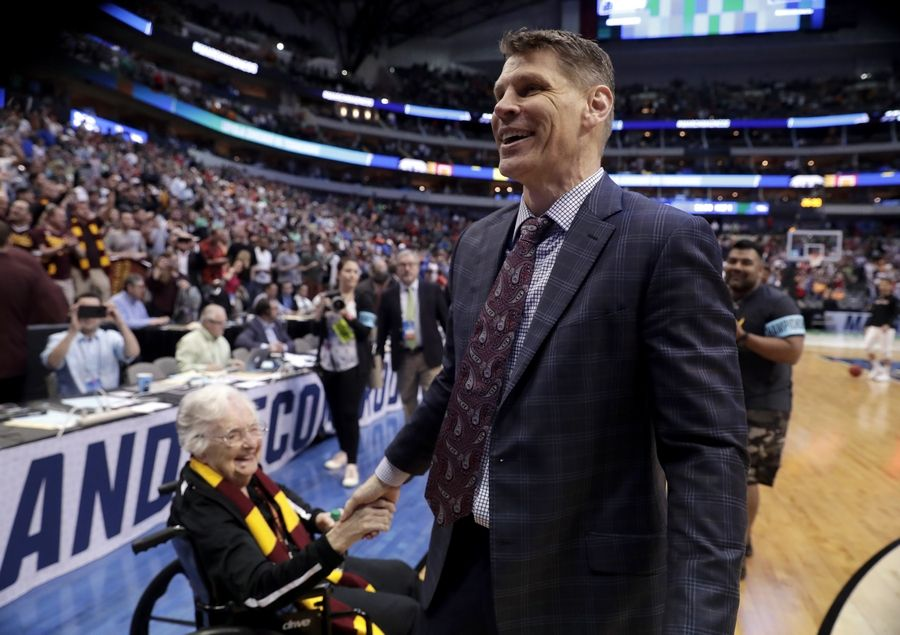 Associated PressStudies show that people get more interested in the men's NCAA basketball tournament if they are gambling on it. Otherwise, people need stories, such as the one about Sister Jean Dolores Schmidt, left, cheering on Cinderella Loyola-Chicago coach Porter Moser in last year's tournament.