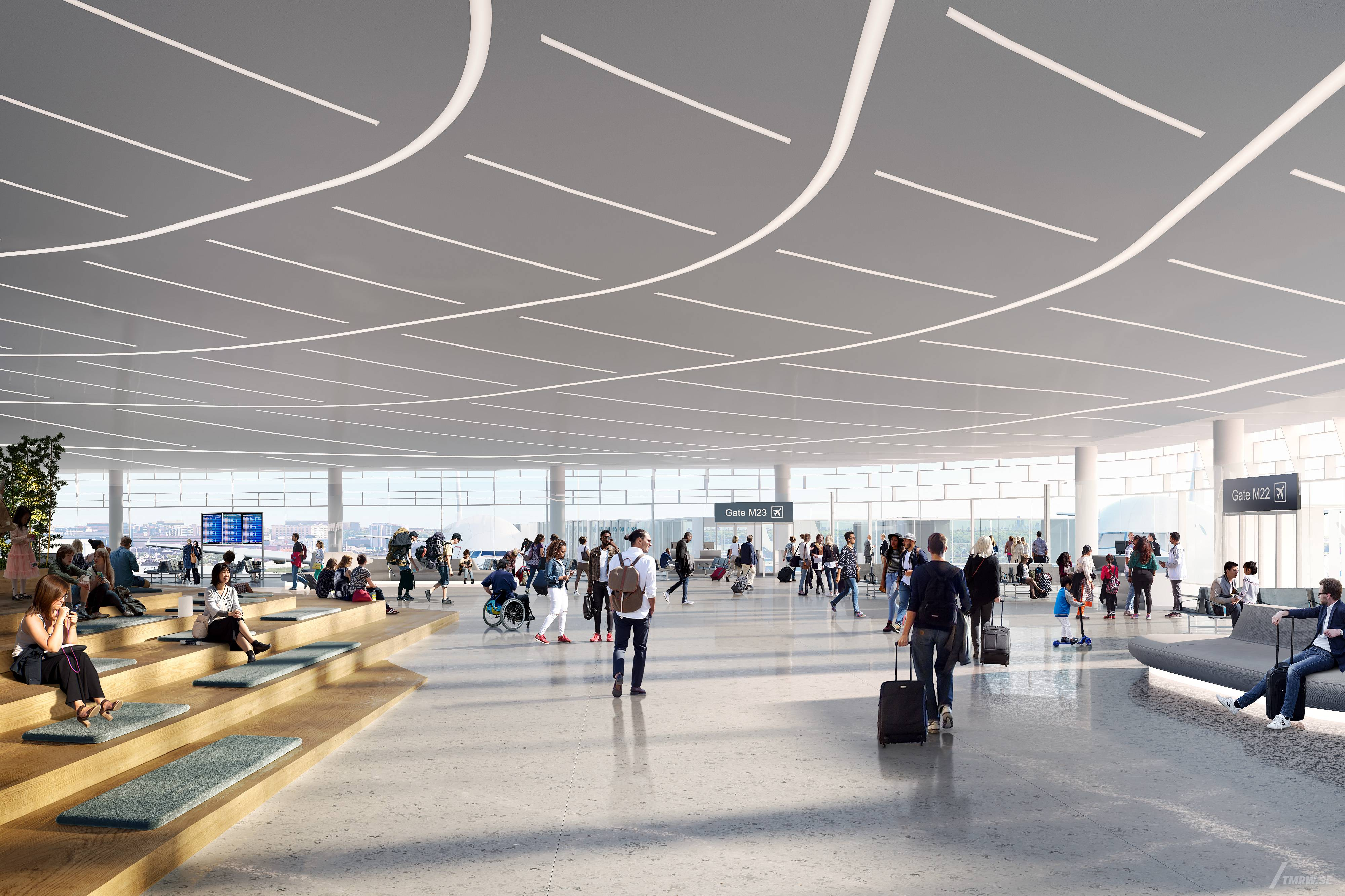 A new Terminal 5 is being built at O'Hare. Officials broke ground Wednesday.