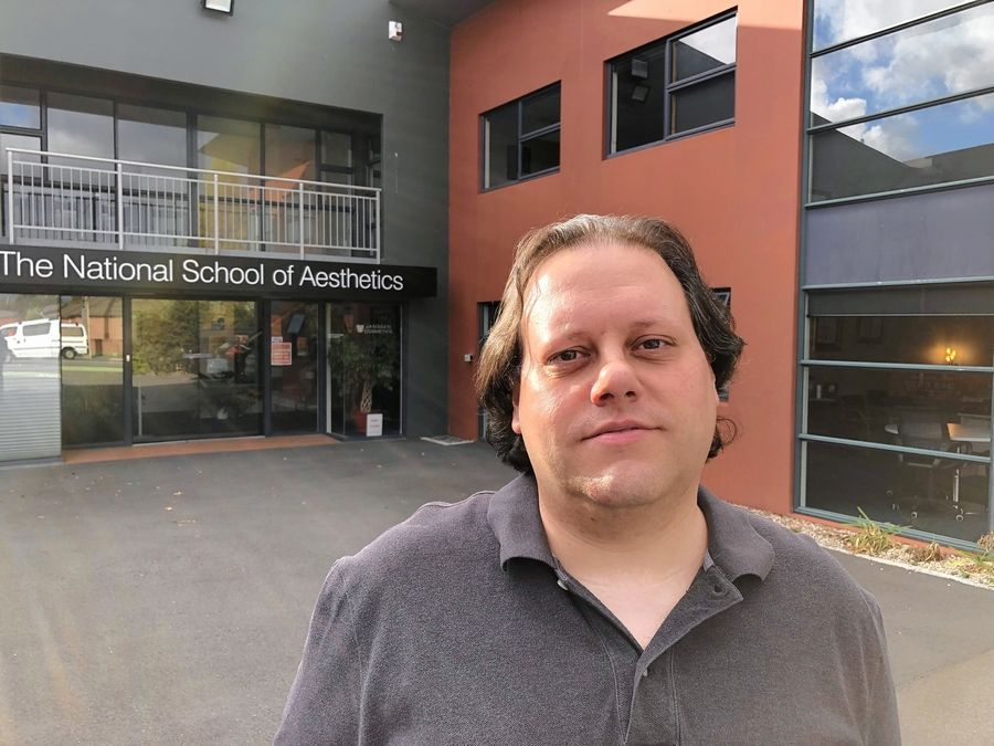 Mount Prospect native Scott Fack in front of The National School of Aesthetics in Christchurch, New Zealand, where he works a mile and a half from last week's terrorist attack that killed 50 at two mosques.