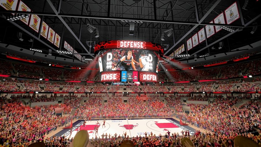 The United Center announced plans to unveil a new scoreboard, four times larger than the current video screens, to debut for the 2019-20 Blackhawks and Bulls seasons.