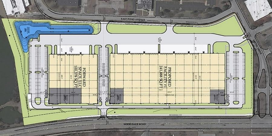 The Wood Dale City Council recently approved a redevelopment plan for the vacant Oakwood Commerce Center at Wood Dale Road and Mittel Drive.