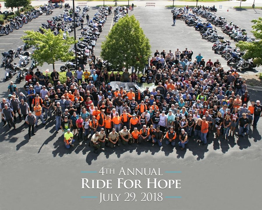 The 2018 Ride for Hope riders and passengers just before the ride.Lisa Haring