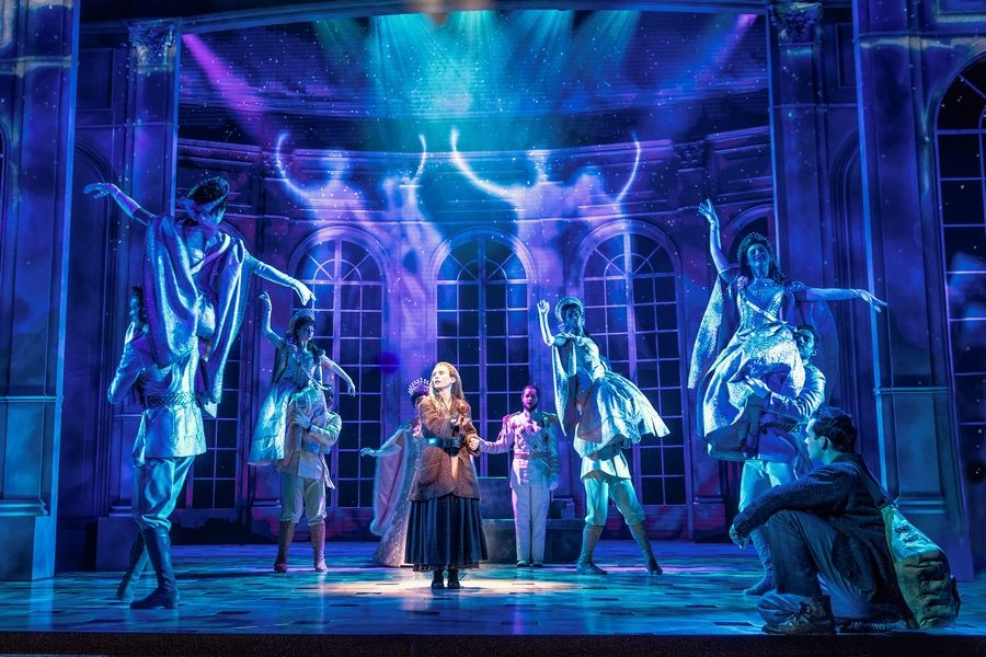"Anya (Lila Coogan) feels the presence of Imperial Russian ghosts in ""Anastasia."" The 2017 Broadway musical inspired by the 1997 animated film makes its touring debut at the James M. Nederlander Theatre in Chicago through Sunday, April 7."