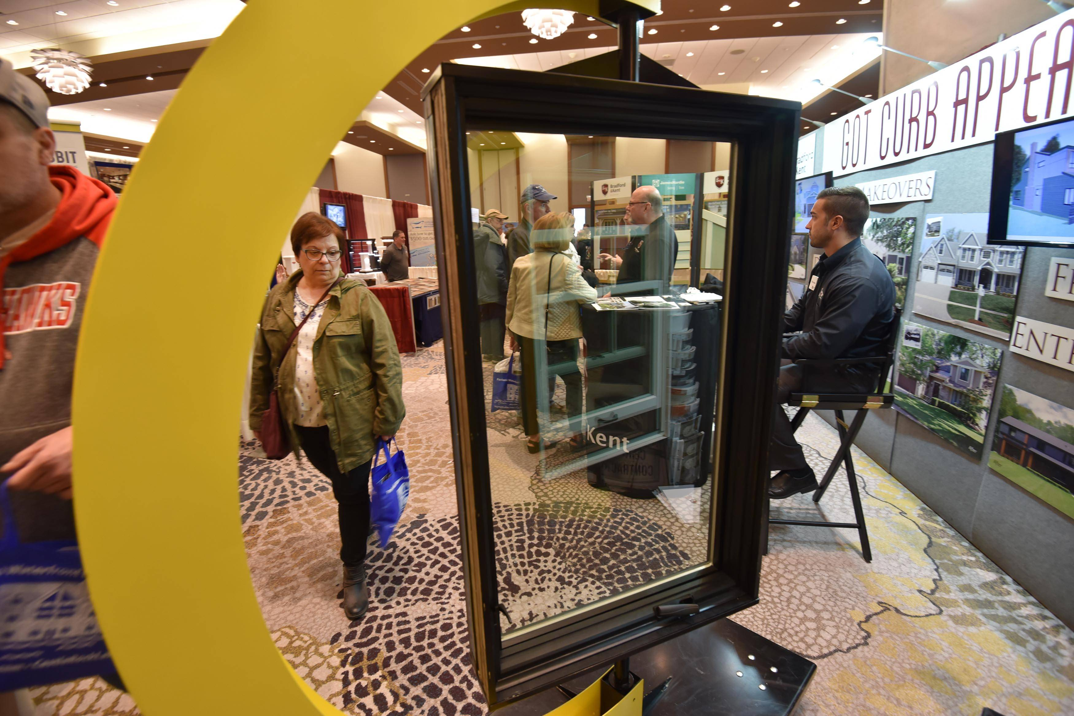 Downers Grove contractor Bradford & Kent had windows on display Sunday during the North Shore Home & Garden Show at the Westin Hotel and Event Center in Wheeling. The show featured hundreds of exhibitors and vendors from all facets of the home and garden industries.