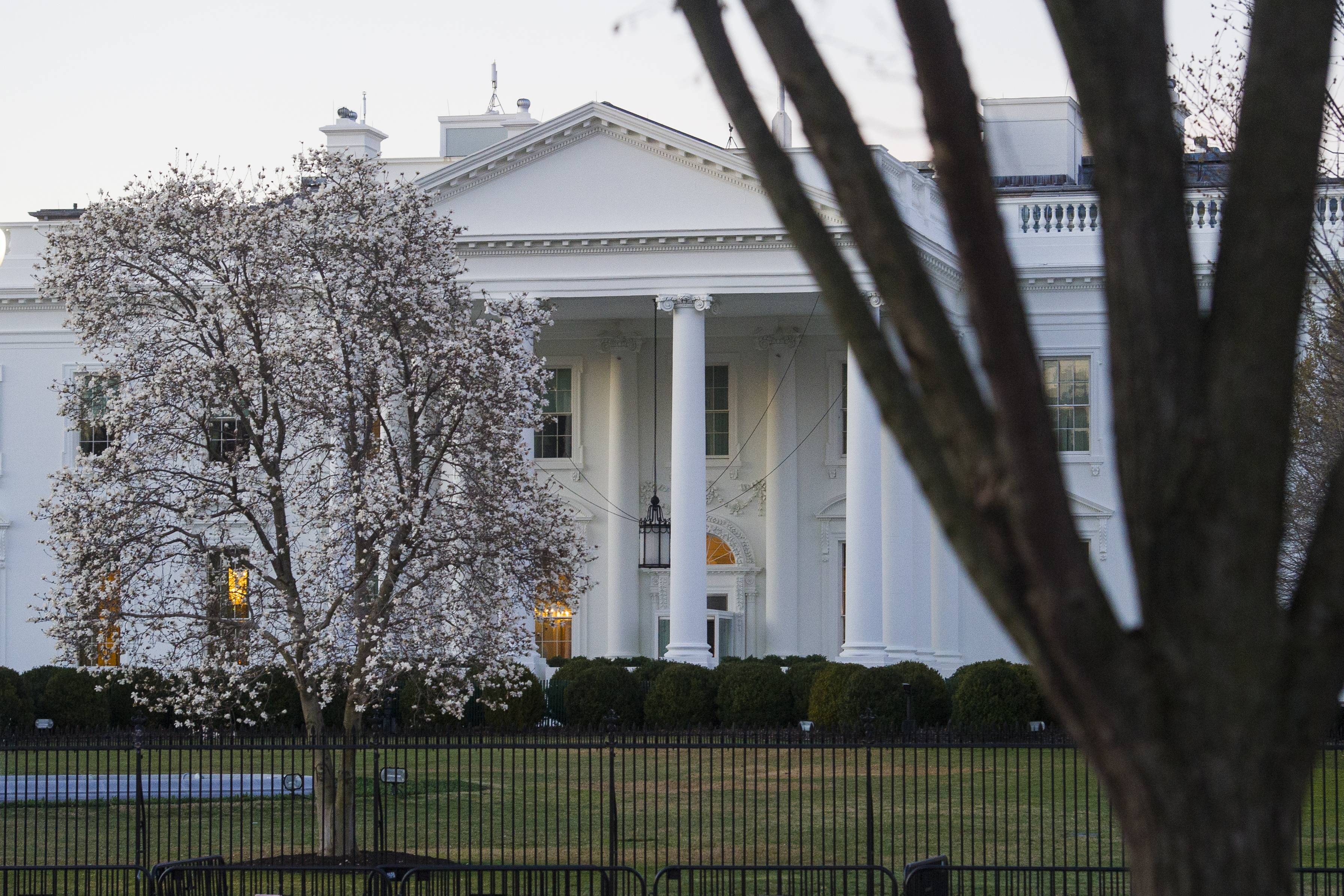 The White House is seen in Washington, Sunday, March 24, 2019. Special counsel Robert Mueller closed his long and contentious Russia investigation with no new charges, ending the probe that has cast a dark shadow over Donald Trump's presidency.