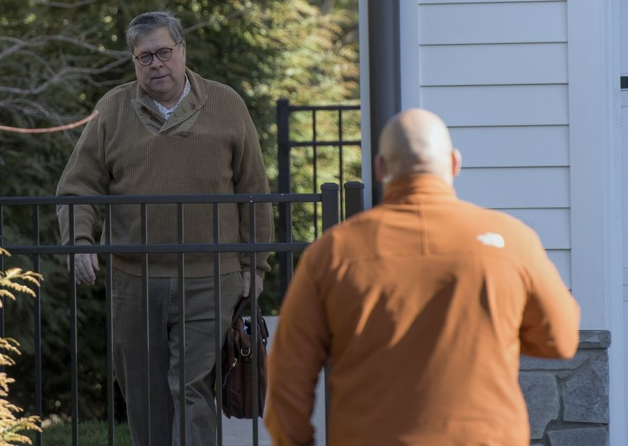 Attorney General William Barr leaves his home in McLean, Va., on Saturday morning, March 23, 2019. Special counsel Robert Mueller closed his long and contentious Russia investigation with no new charges, ending the probe that has cast a dark shadow over Donald Trump's presidency.