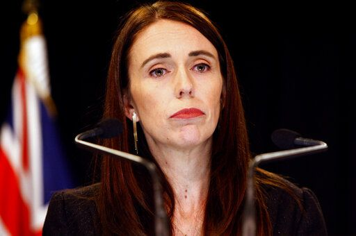 New Zealand Prime Minister Jacinda Ardern addresses a press conference in Wellington, New Zealand Monday, March 25, 2019. Ardern has announced a top-level inquiry into the circumstances surrounding the massacre of 50 people in two Christchurch mosques on March 15.