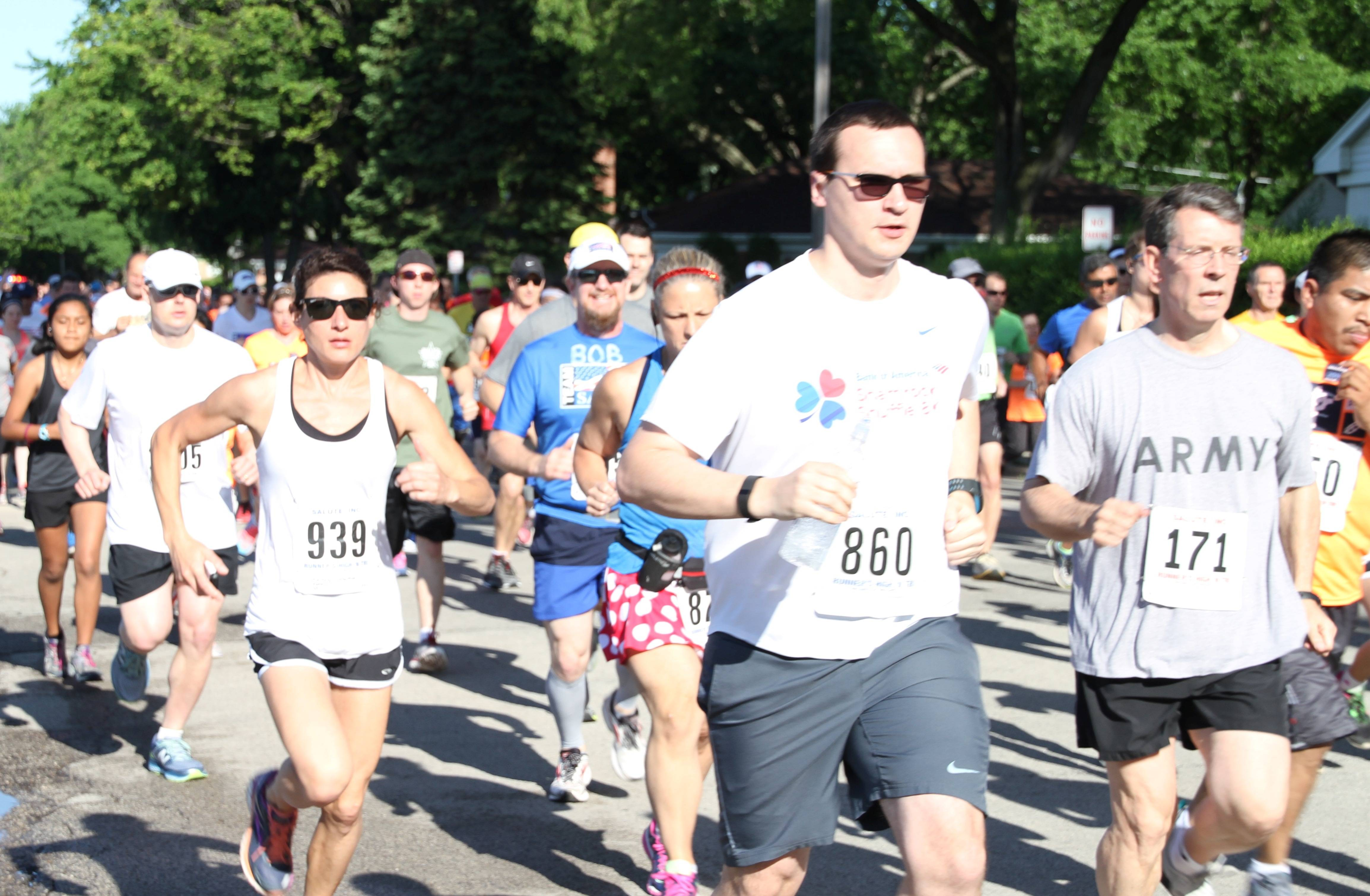 Join SALUTE. INC.'s annual Memorial Day Weekend 5K/10K in Arlington Heights.