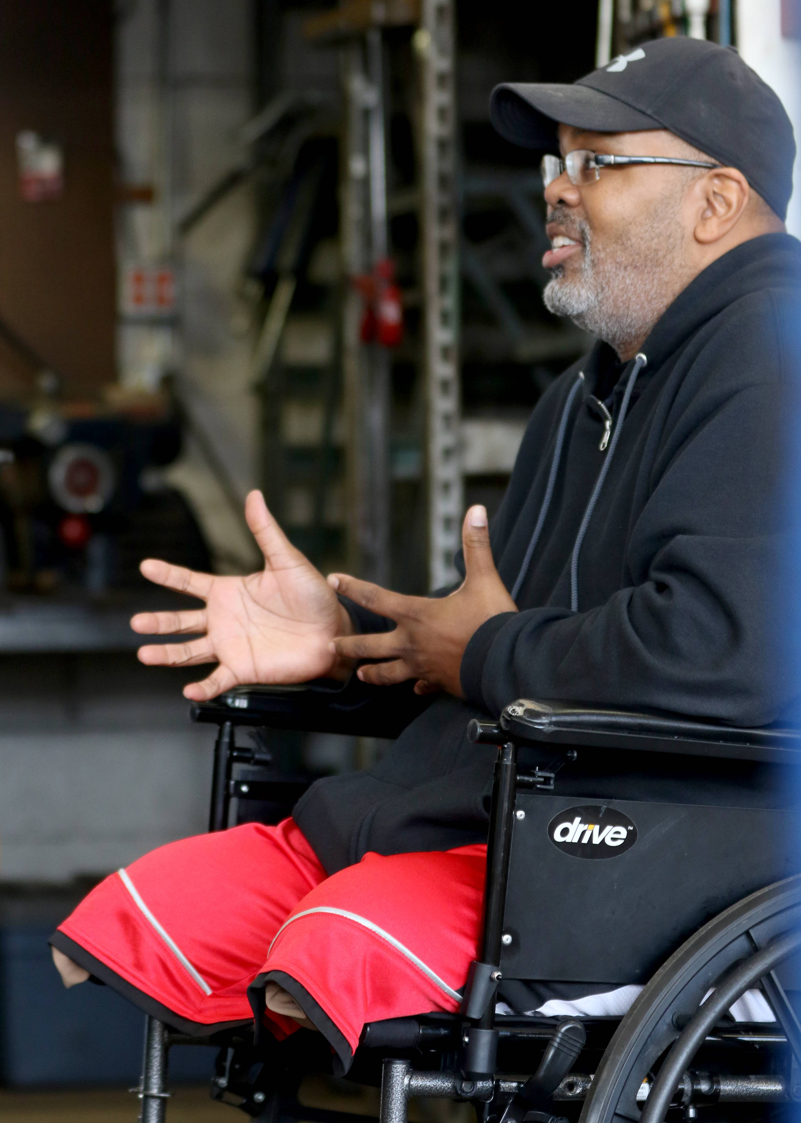 """I have to keep moving,"" says Henry Owens, of Carpentersville, who lost both his legs in a parasailing accident in June."