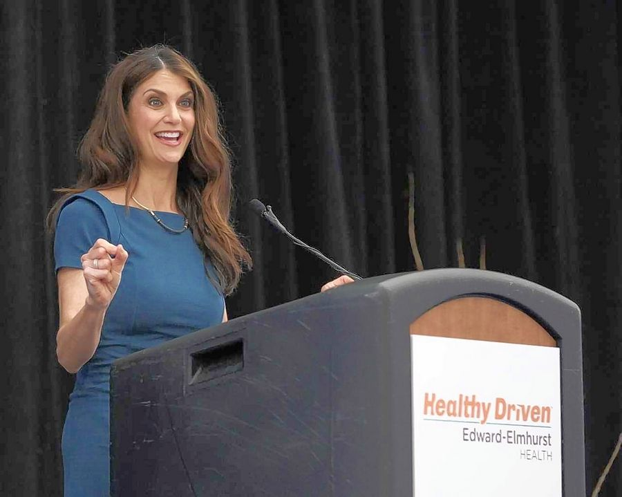 "Samantha Harris, former co-host of ""Dancing with the Stars"" and ""Entertainment Tonight,"" delivers the keynote address at Edward-Elmhurst Health's ""Unstoppable You"" Wellness Forum."