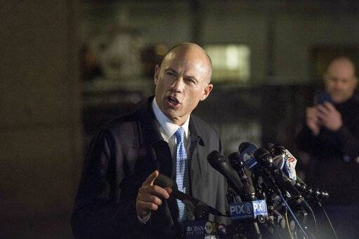 Attorney Michael Avenatti delivers remarks in front of federal court after his initial appearance in an extortion case Monday, March 25, 2019, in New York. Avenatti was arrested Monday on charges that included trying to shake down Nike for as much as $25 million by threatening the company with bad publicity.