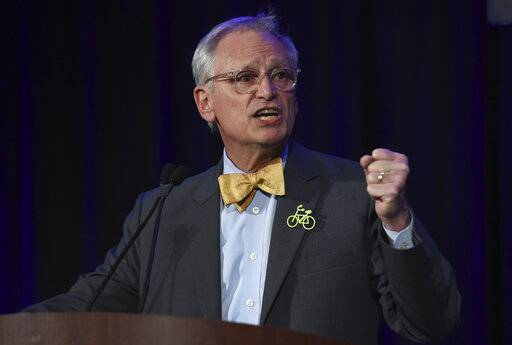 FILE - In this Nov. 6, 2018, file photo, Rep. Earl Blumenauer, D-Ore., speaks in Portland, Ore. The White House and business groups are stepping up efforts to win congressional approval for the U.S.-Mexico-Canada trade accord. But prospects are uncertain given that Republicans are at odds with some aspects of the plan and Democrats are in no hurry to secure a political victory for the president.