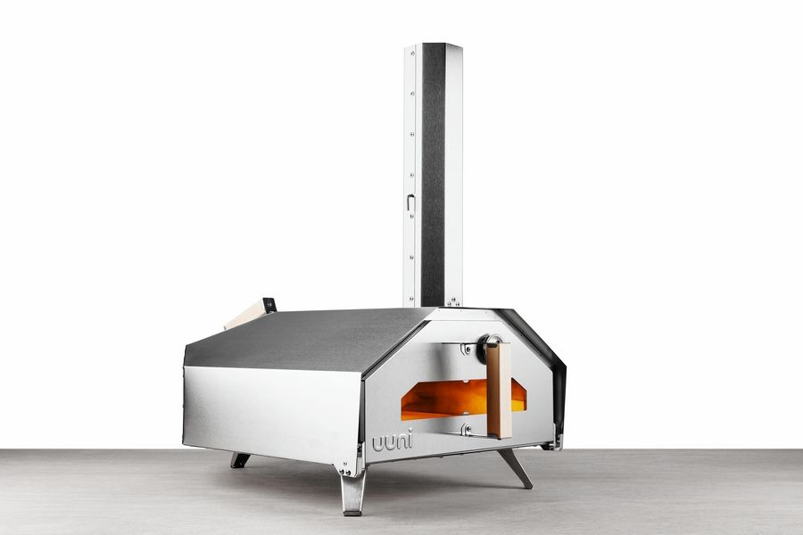 These pizza ovens are meant for home use and depending on the model, run on propane gas, wood pellets, charcoal, or wood.