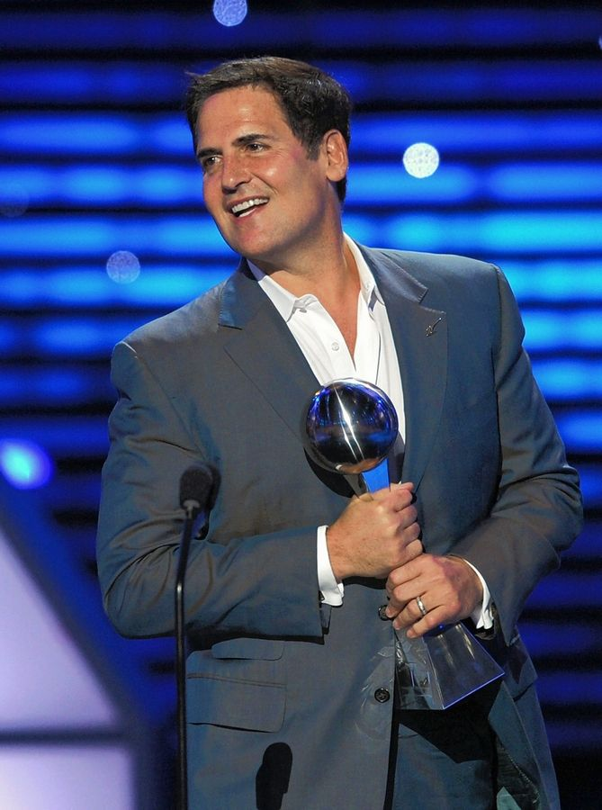 NBA Dallas Mavericks owner and billionaire Mark Cuban will headline Judson University's new World Leaders Forum speaker series May 16 focusing on business and entrepreneurship in Elgin. Here, Cuban accepts the award for best team at The 2011 ESPY Awards last July in Los Angeles.