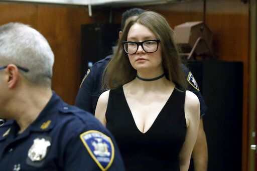 Anna Sorokin arrives in New York State Supreme Court for her trial on grand larceny charges, in New York, Wednesday, March 27, 2019. Sorokin is on trial on grand larceny and theft of services charges.