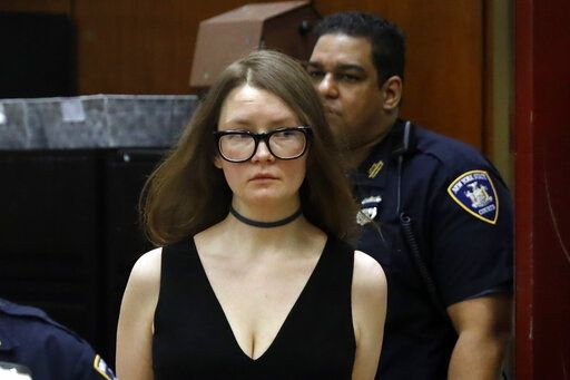 Anna Sorokin arrives in New York State Supreme Court, in New York, Wednesday, March 27, 2019. Sorokin is on trial on grand larceny and theft of services charges.