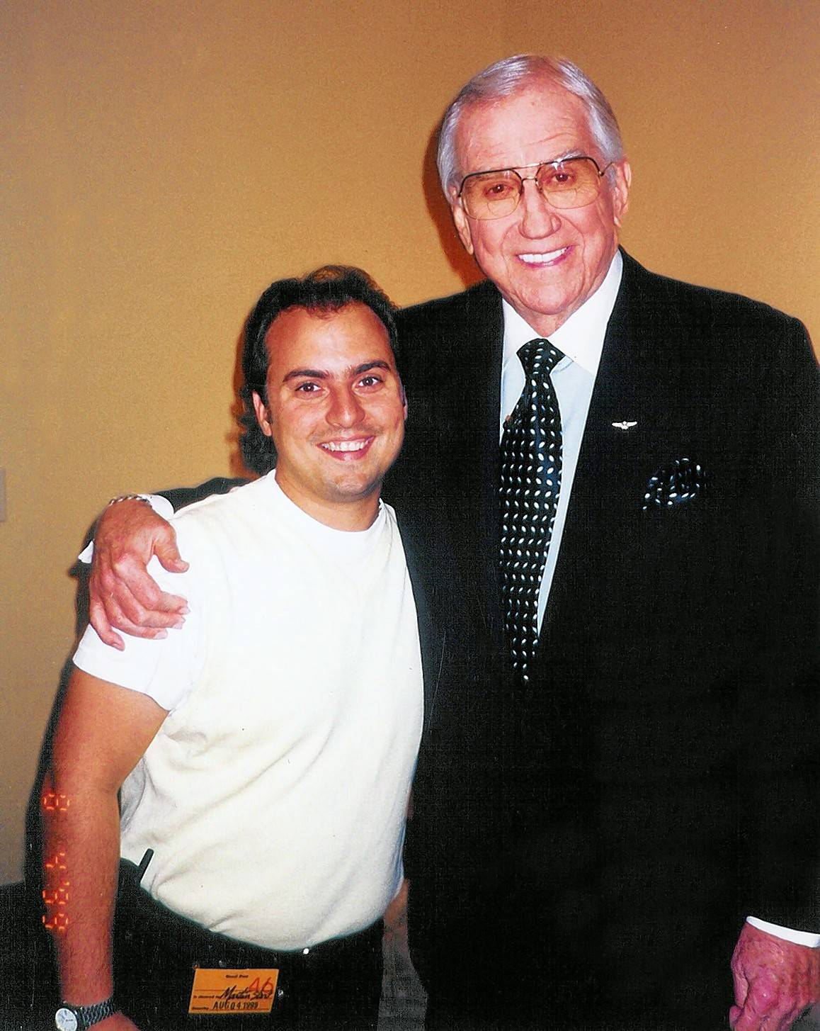 Ron Onesti recalls how Johnny Carson sidekick Ed McMahon, right, gave Onesti a top showbiz memory he treasures to this day.