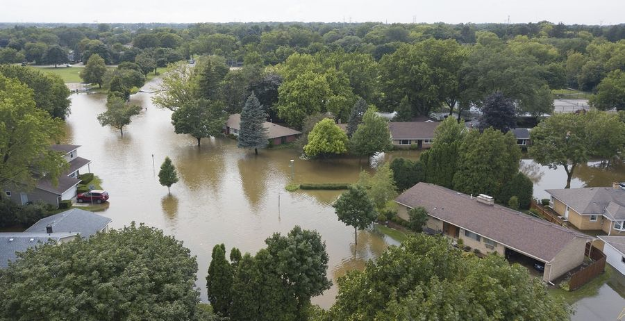 Heavy flooding at the intersection of Crane Boulevard and Dawes Road in Libertyville forced several residents out of their homes and highlighted the need for solutions to stormwater issues.