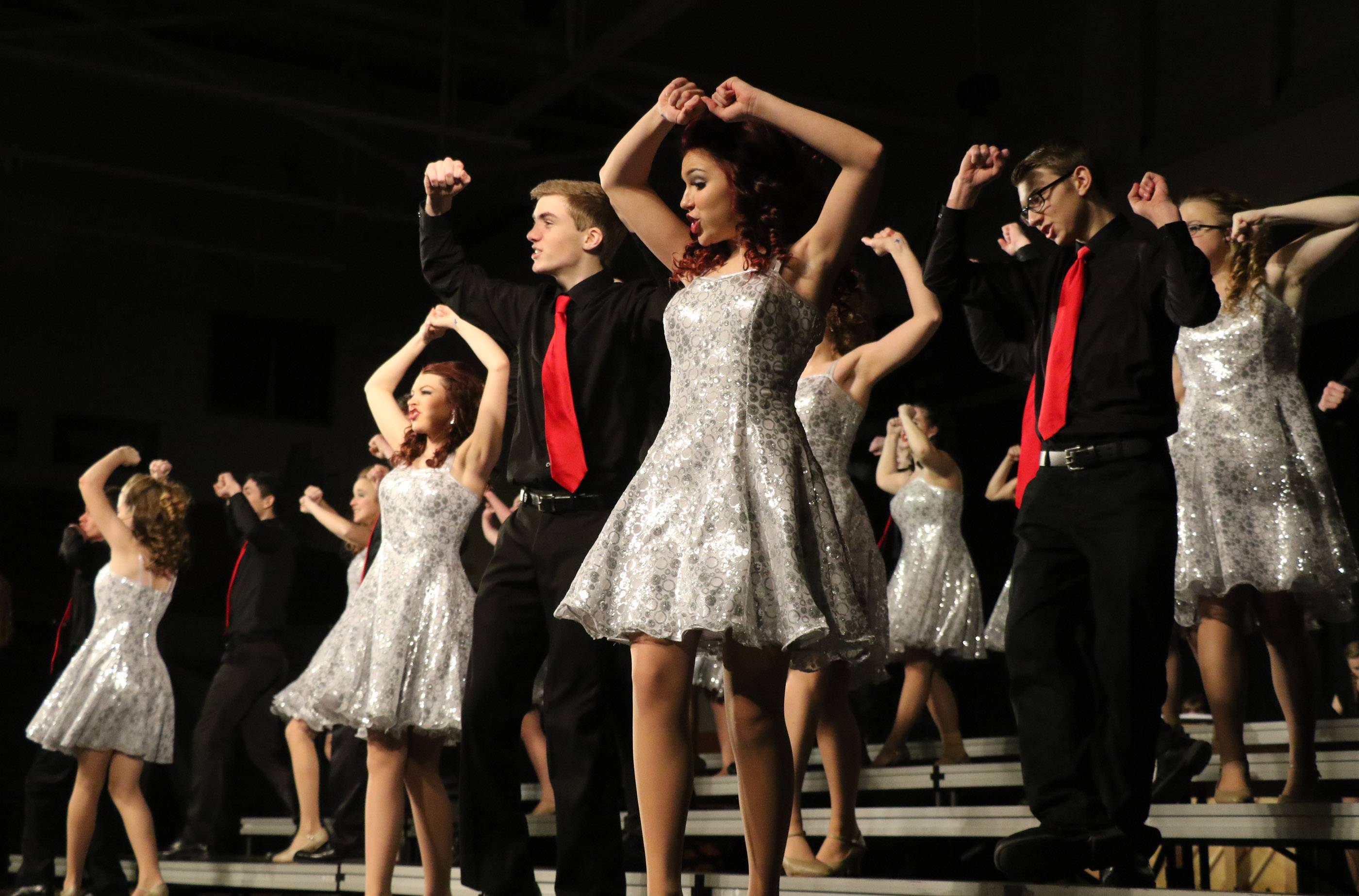"Batavia High School's show choir, Swingsingers, performs at the annual Chicagoland Showcase at Hersey High School in Arlington Heights. Batavia Unit District 101 is among five suburban school districts selected as the ""Best Communities for Music Education"" nationwide."