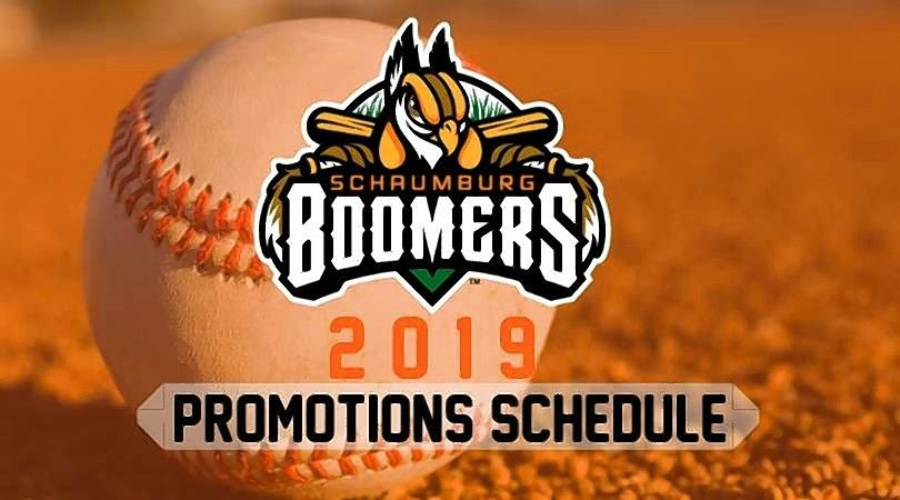 The Schaumburg Boomers have released their 2019 promotional schedule.