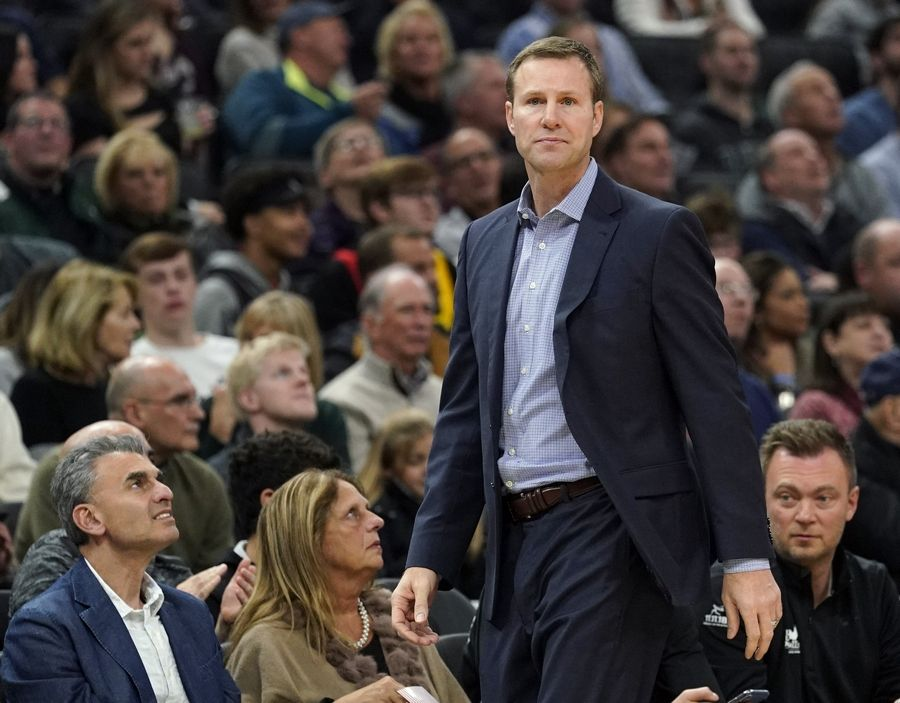 FILE - In this Friday, Nov. 16, 2018 file photo, Chicago Bulls head coach Fred Hoiberg watches during the first half of an NBA basketball game against the Milwaukee Bucks in Milwaukee. A person with knowledge of the negotiations has told The Associated Press that Nebraska has finalized a deal to hire Fred Hoiberg as its coach. The person spoke to the AP on condition of anonymity Saturday, March 30, 2019 because the school has not announced the hiring.