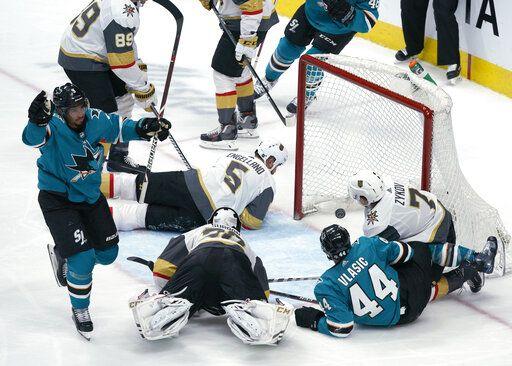 Burns Scores In Ot Sharks Top Golden Knights 4 3