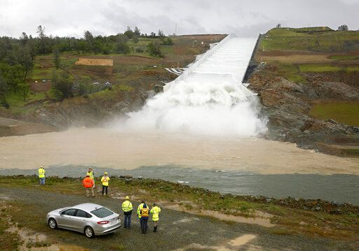 Dam's spillway gets first use since 2017 California crisis