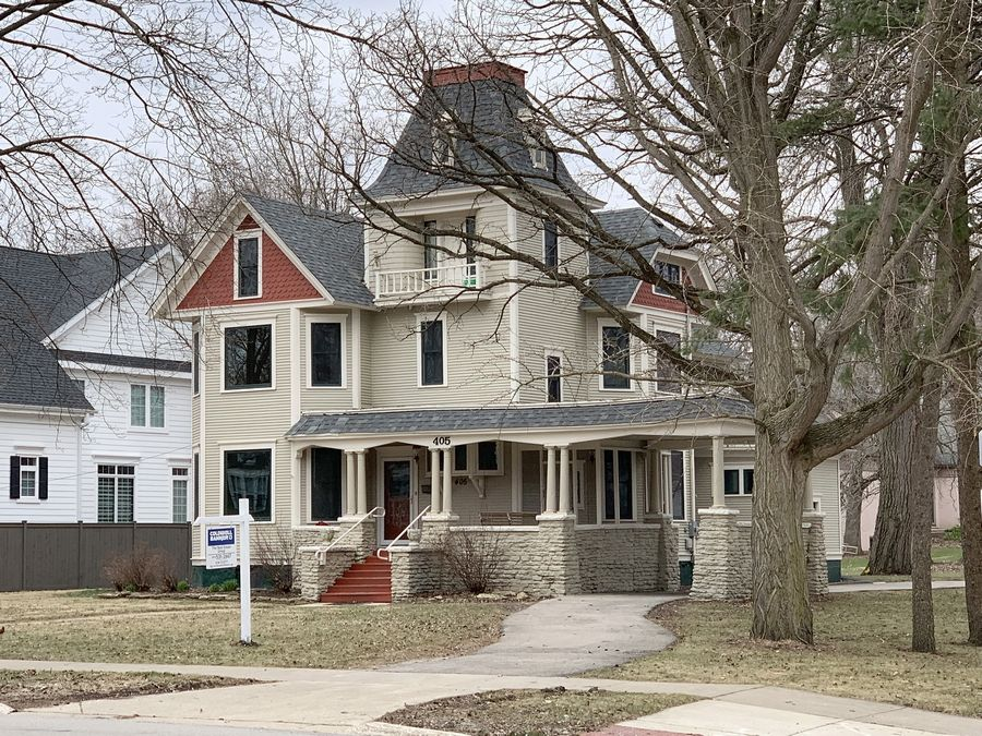 "The house at 405 S. Seventh St. in St. Charles, once known as the ""Munsters Mansion"" and more recently a senior home, has been listed for sale."