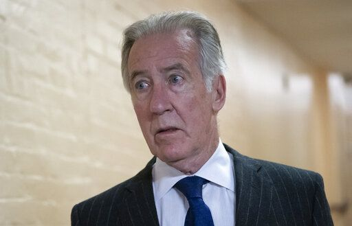 In this April 2, 2019, photo, House Ways and Means Committee Chairman Richard Neal, D-Mass., arrives for a Democratic Caucus meeting at the Capitol in Washington. Neal, whose committee has jurisdiction over all tax issues, has formally requested President Donald Trump's tax returns from the Internal Revenue Service.