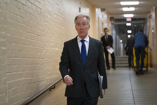 House Ways and Means Committee Chairman Richard Neal, D-Mass., arrives for a Democratic Caucus meeting at the Capitol in Washington, on April 2, 2019. Rep. Neal, whose committee has jurisdiction over all tax issues, has formally requested President Donald Trump's tax returns from the Internal Revenue Service for the past 6 years.