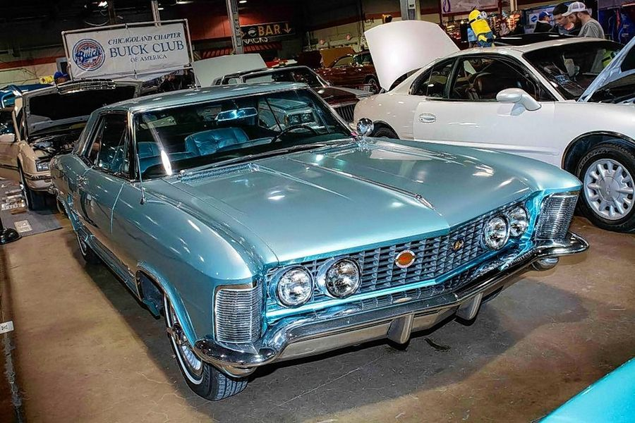 The Chicagoland Chapter of the Buick Club of America brought out several member vehicles, including this Riviera, at the World of Wheels auto show last month in Rosemont.