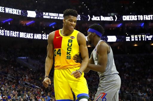 size 40 50b3c 503bf Bucks clinch top seed in the East, NBA with win over 76ers