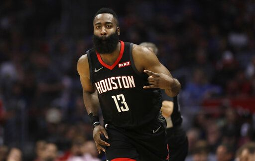 the best attitude 748cb 50e50 Harden s 31 leads Rockets  135-103 rout of Clippers