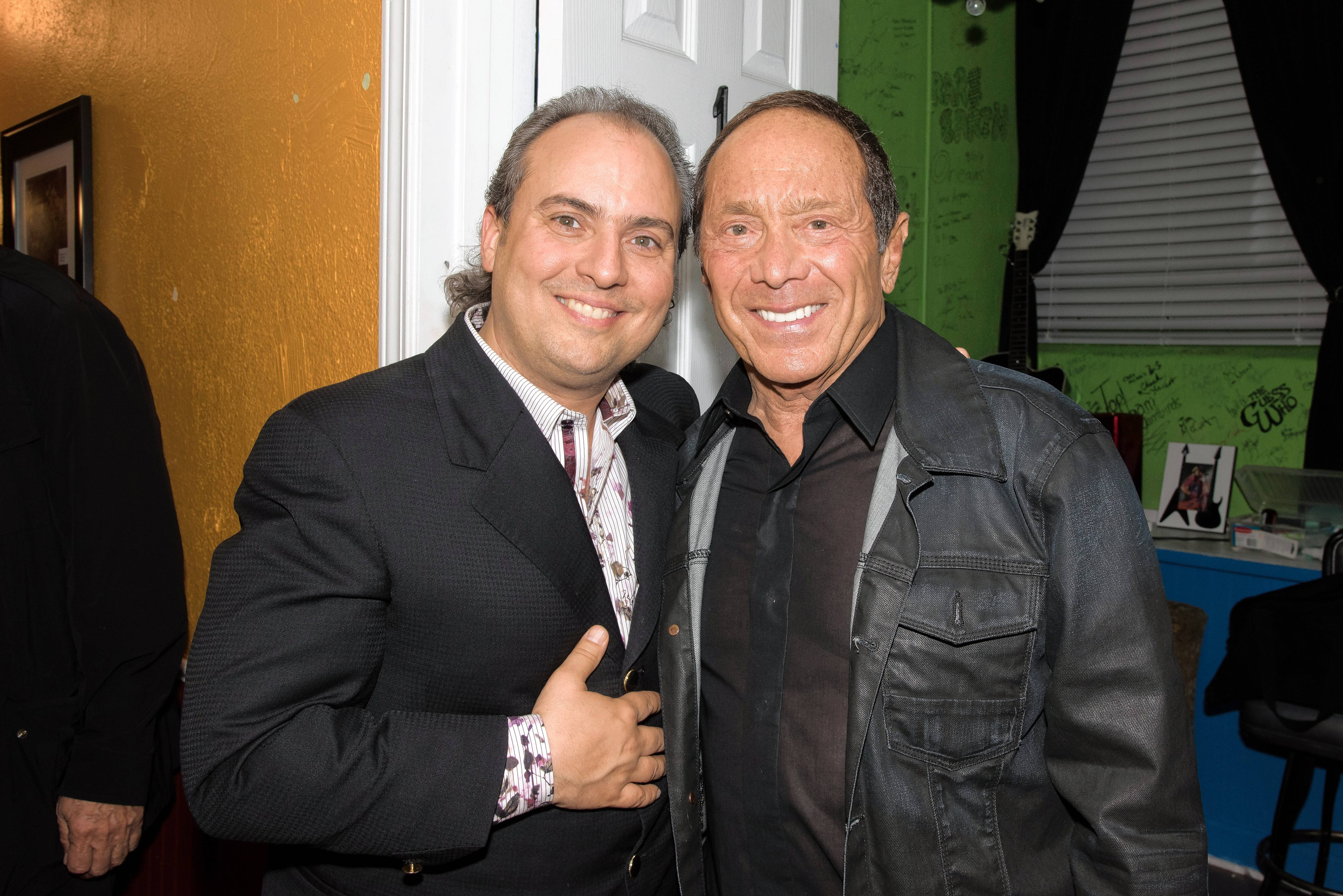 "Arcada Theatre owner Ron Onesti, left, has struck up a friendship with singer/songwriter Paul Anka, who wrote ""My Way"" 50 years ago this week."