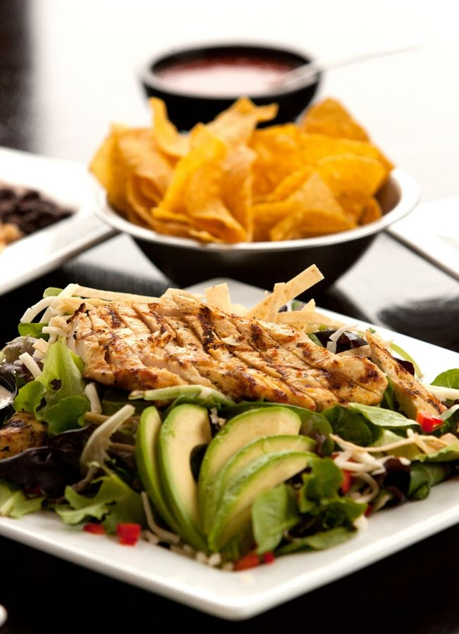 Among the menu items at Burrito Parrilla Mexicana are garden salads and taco salads.