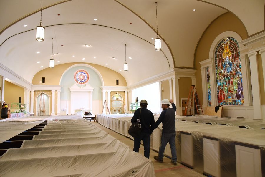 Parishioners excited about St  James Church's reconstruction