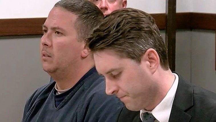 Courtesy of Fox Channel 6 in MilwaukeeBeach Park resident Timothy Vandervere, left, appears in court Tuesday in Wisconsin for a bond hearing. He has been accused of reckless homicide in a crash that killed three Kenosha residents.