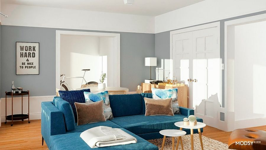85bd737cc4040a This furnished room was suggested by the Modsy online design service. Modsy  asks you to