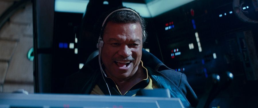 "Lando Calrissian (Billy Dee Williams) is back at the helm of the Millennium Falcon in ""Star Wars: The Rise of Skywalker."""