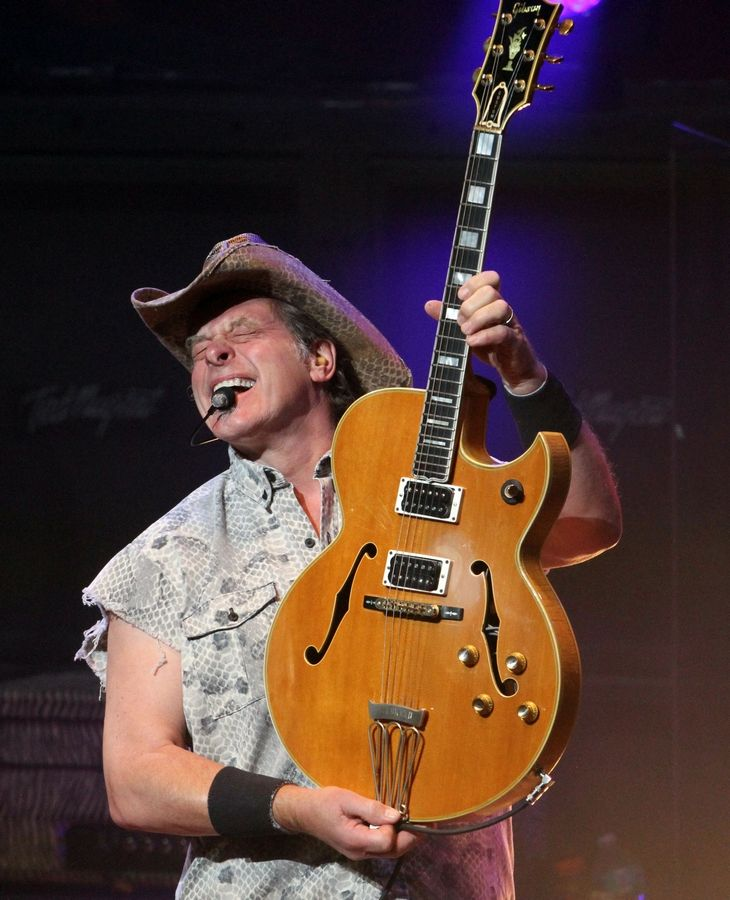 Tickets for a Ted Nugent concert Aug. 3 at the McHenry County Fair were the fastest-selling in fair history after controversy about booking him for the event, organizers said. Nugent is shown here performing in 2016 in Atlanta.