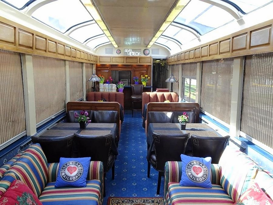"Travelers will get the chance to travel in style aboard private railcar ""Hollywood Beach"" on June 8."