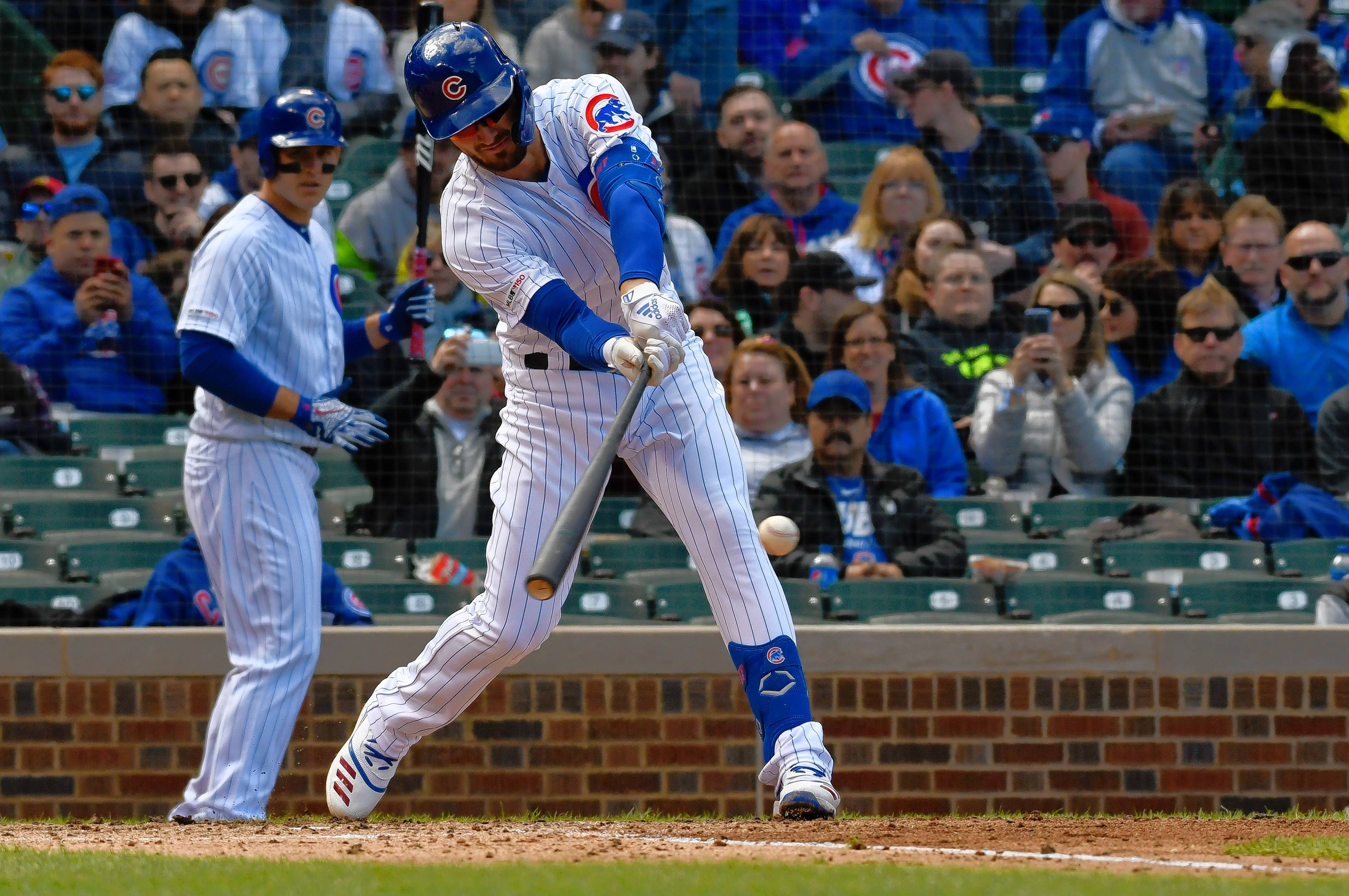 Slumping Kris Bryant was not in the Cubs' lineup Saturday, but manager Joe Maddon said Bryant had a day off coming.